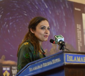 Hon. Ms. Marvi Memon discussing implications for poorest people.
